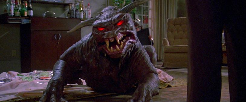 Una scena di Ghostbusters del 1984, il terror dog ribattezzato cane infernale