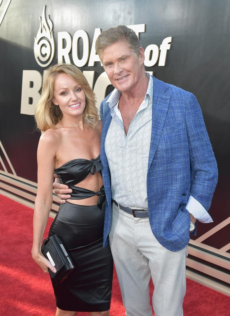 David Hasselhoff e la fidanzata Hayley Roberts