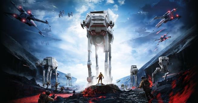 Alleanza e Impero combattono sulla cover del primo Star Wars Battlefront