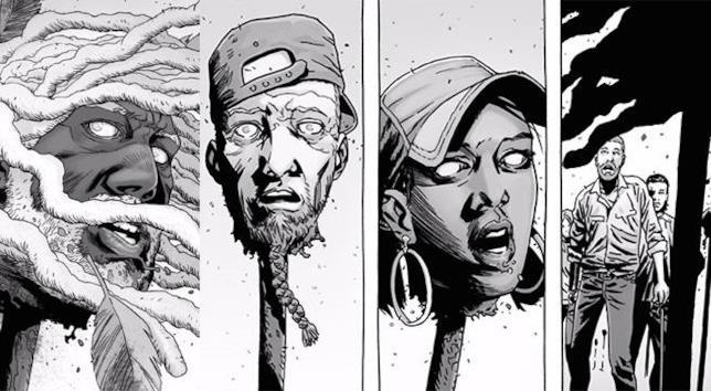 The Walking Dead: le teste sulle picche, nel fumetto