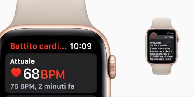 Immagine promozionale dell'applicazione Battico Cardiaco di Apple Watch