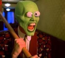 Jim Carrey con la maschera sul volto