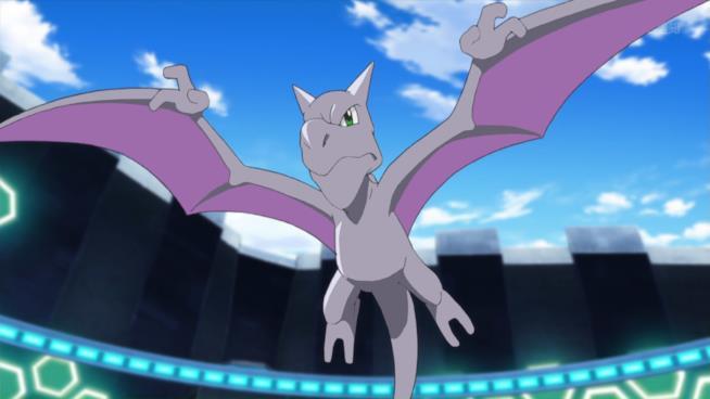 Aerodactyl in volo nell'anime dei Pokémon