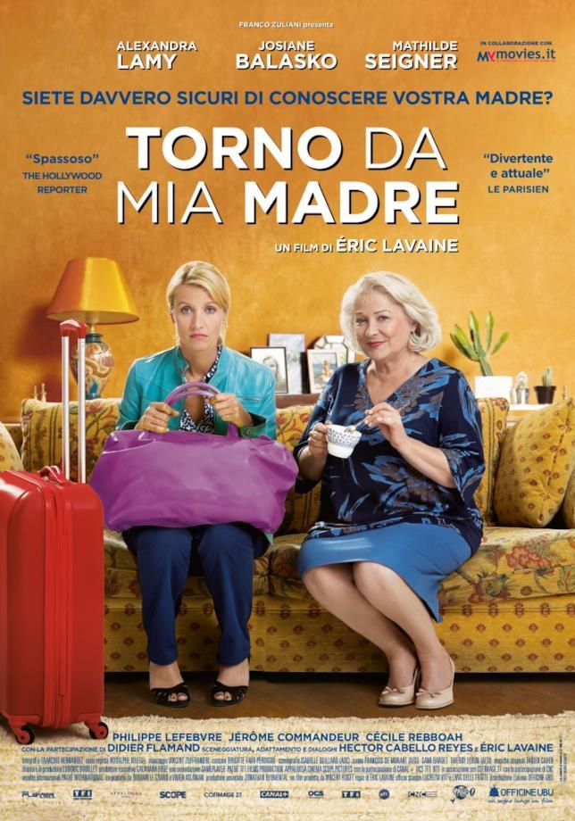 Le protagoniste del film Torno da mia madre
