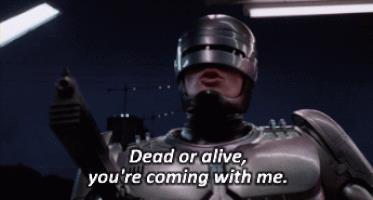 L'iconica battuta di RoboCop nel primo film