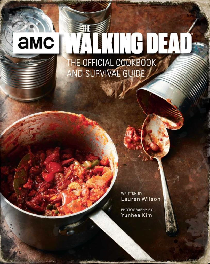 La copertina del manuale di ricetta e sopravvivenza di The Walking Dead