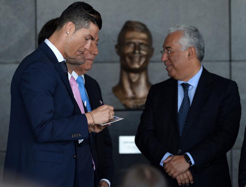 Cristiano Ronaldo all'inaugurazione dell'Aeroporto di Madeira