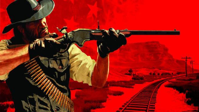 John Marston impugna il suo fucile in Red Dead Redemption