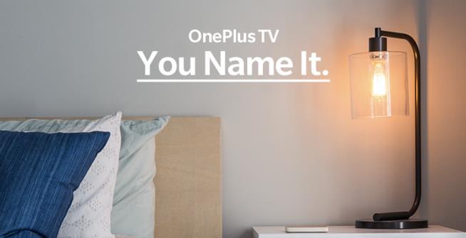 Un'immagine per promuovere OnePlus TV