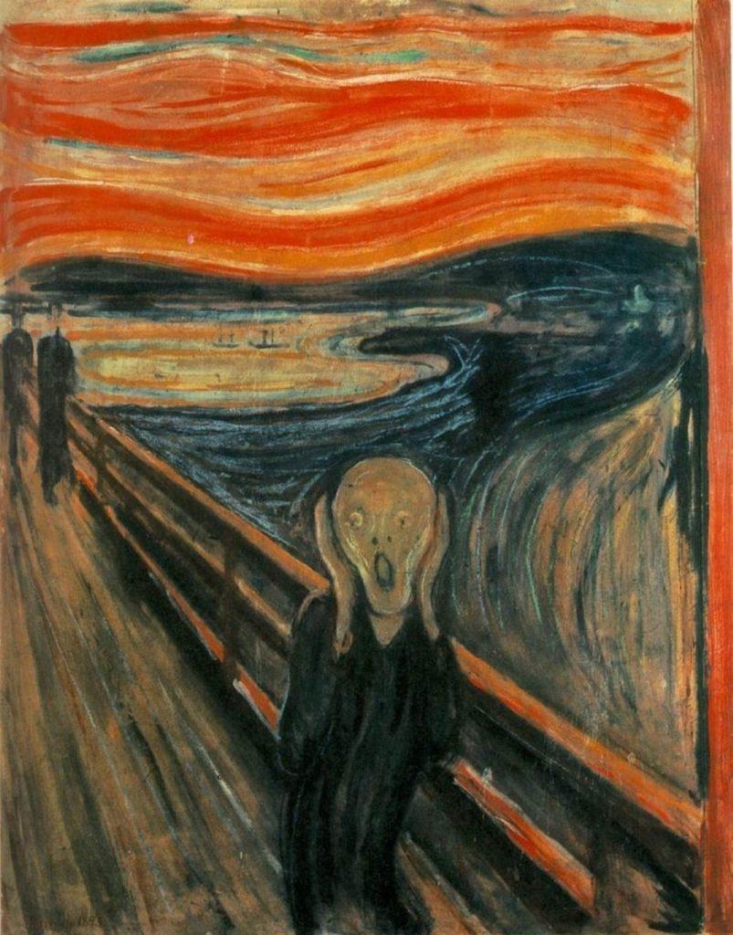 Il dipinto dell'Urlo di Munch