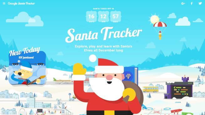 Segui Babbo Natale con Google Santa Tracker