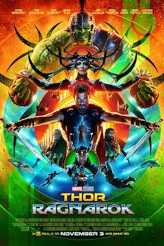 Gli eroi di Thor: Ragnarok nella locandina USA del film