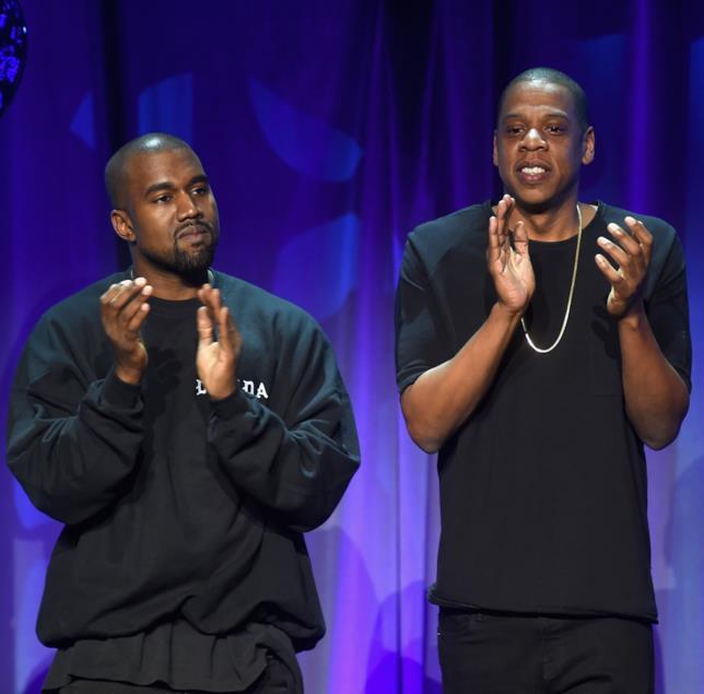 Kanye West e Jay Z insieme sul palco