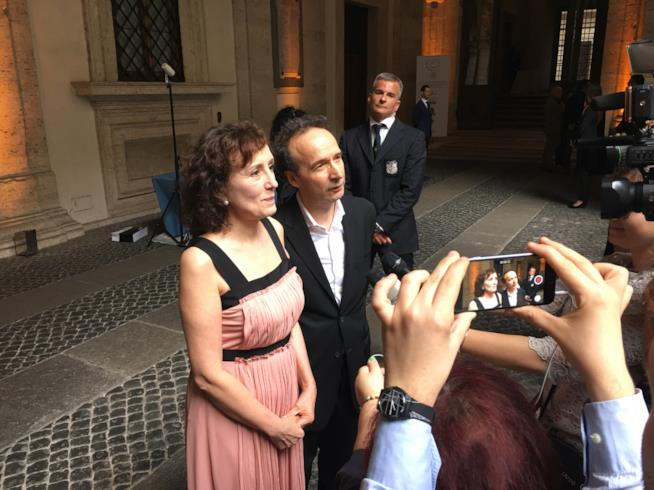 Nicoletta Braschi e Roberto Benigni