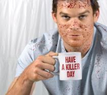 Michael C. Hall nei panni del sanguinario Dexter Morgan