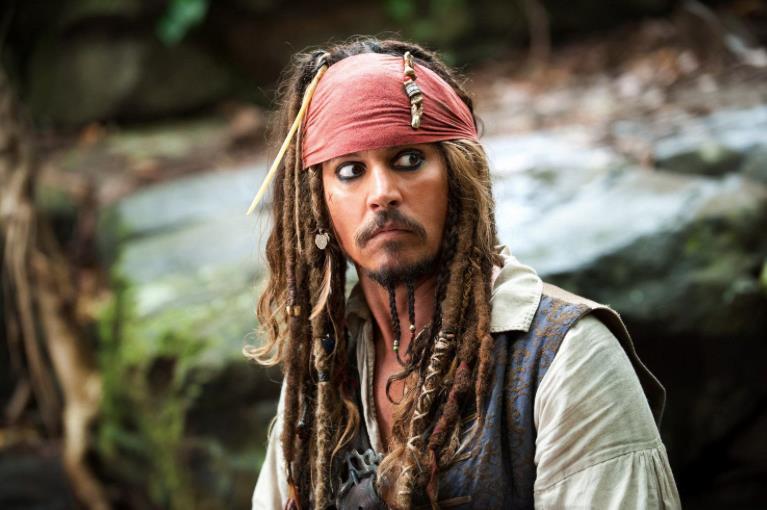 Un primo piano di Jack Sparrow