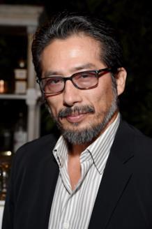 Un primo piano dell'attore HiroyukiSanada
