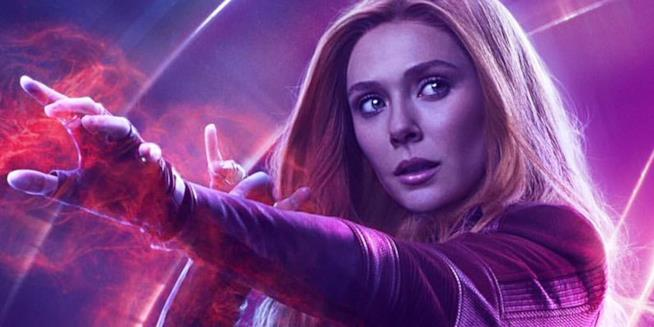 Scarlet Witch in un poster promozionale di InfinityWar