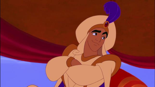 Un'immagine di Aladdin vestito da sultano