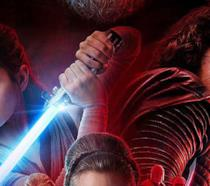 Kylo e Rey nel poster di Star Wars: The Last Jedi