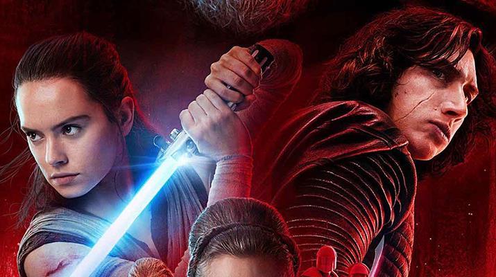 Kylo e Rey nel poster di Star Wars: The Last Jedi