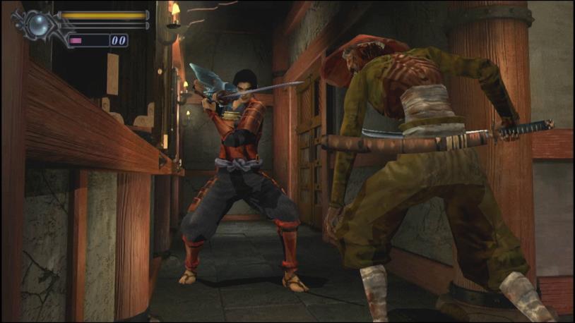 Un'immagine di gioco dalla rimasterizzazione di Onimusha: Warlords