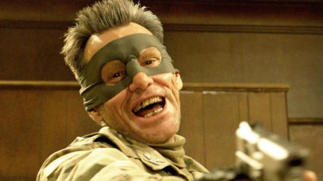Jim Carrey in una scena di Kick Ass 2