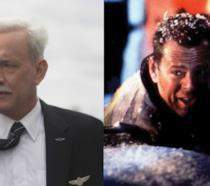 Tom Hanks e Bruce Willis rispettivamente in Sully e 58 minuti per morire