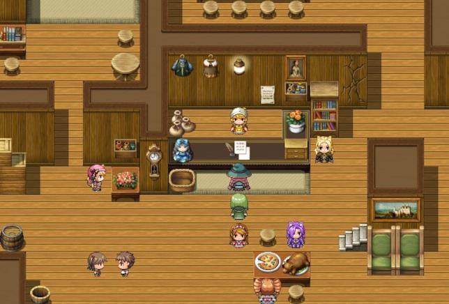 Una mappa di gioco realizzata con RPG Maker MV