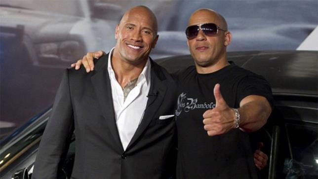 Vin Diesel e The Rock nel 2011