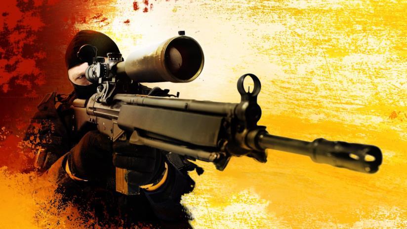 Un cecchino di Counter-Strike: Global Offensive