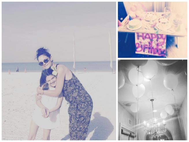 Alcuni scatti condivisi su Instagram da Katie Holmes