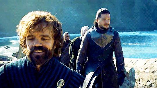 Jon Snow cade a terra per paura dei draghi