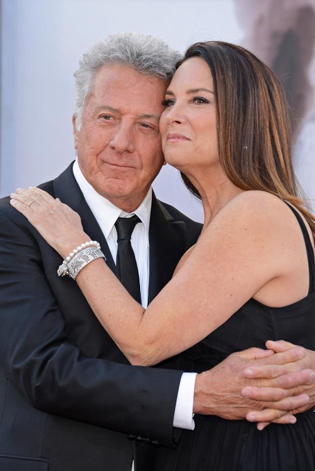 Dustin Hoffman e la seconda moglie