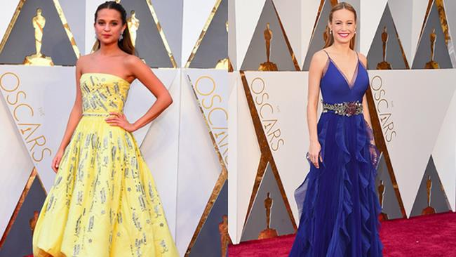 Alicia Vikander e Brie Larson alla cerimonia degli Oscar 2016