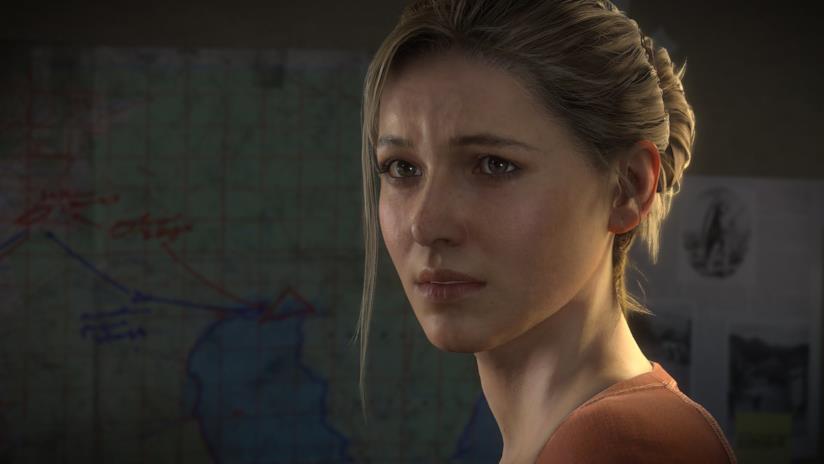Un primo piano di Elena Fisher in Uncharted 4