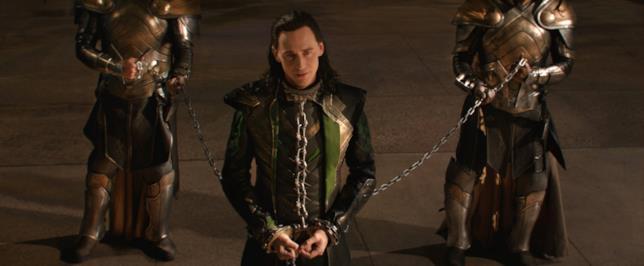 Tom Hiddleston nel ruolo di Loki nel Marvel Cinematic Universe
