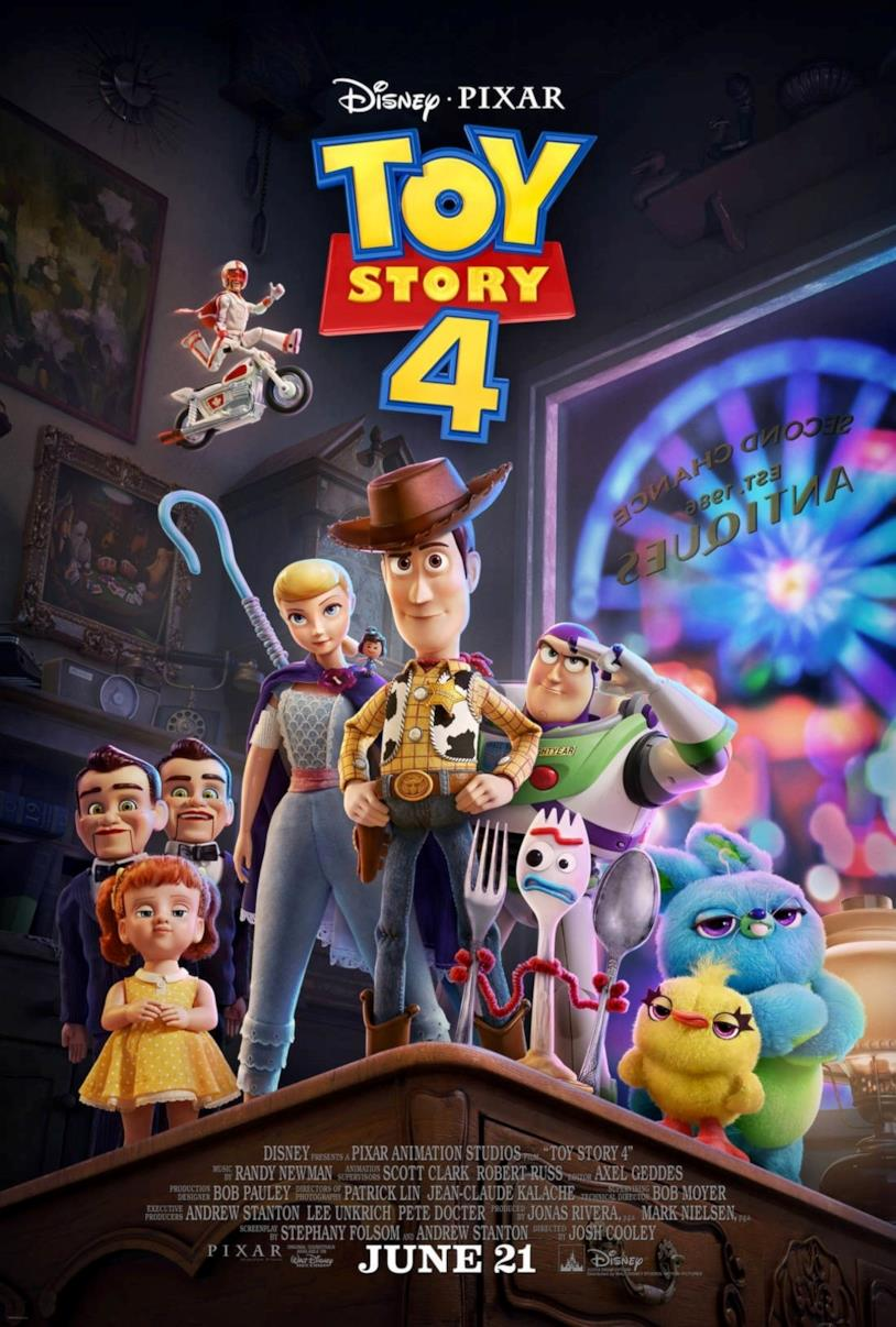 Il poster del film Toy Story 4