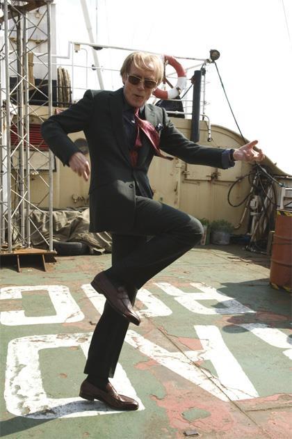 L'attore Bill Nighy in I Love Radio Rock