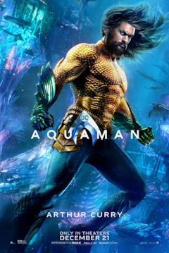 Poster dedicato al personaggio di Aquaman
