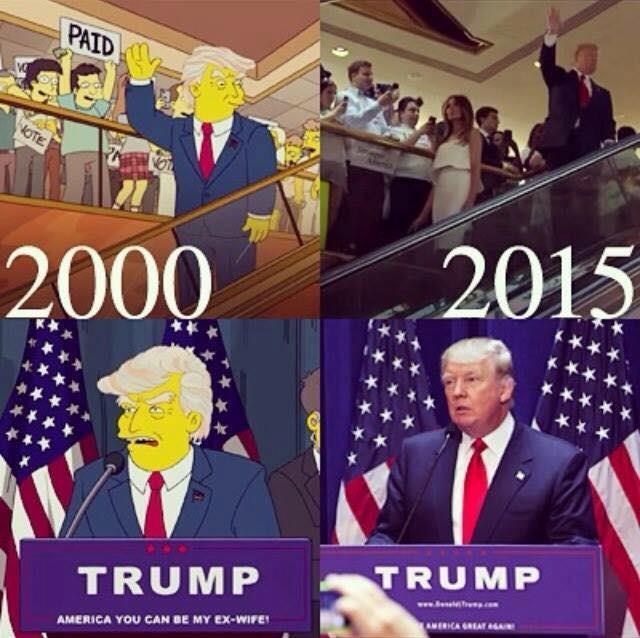 Il MEME con la falsa data dell'incontro tra Trump e Homer