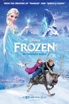 Anna e Kristoff alla ricerca di Elsa nel poster di Frozen