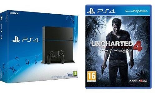 PlayStation 4 500 GB bundle con Uncharted 4 - Fine di un Ladro