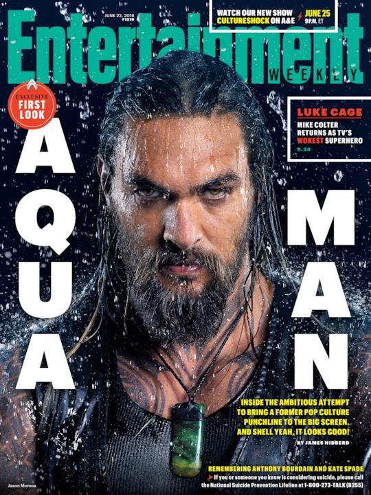 Jason Momoa come Aquaman sulla copertina di EW