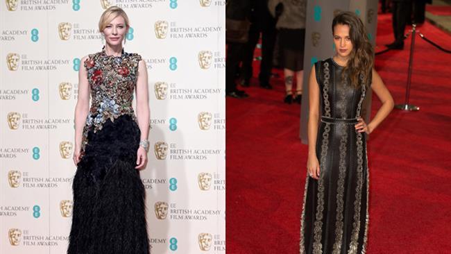 Cate Blanchett e Alicia Vikander ai premi Bafta 2016