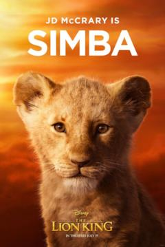 character poster di Simba cucciolo