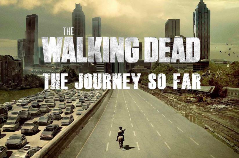 Rick a cavallo verso Atlanta nella prima stagione di The Walking Dead