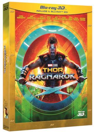 La cover dell'edizione Blu-Ray 3D di Thor: Ragnarok