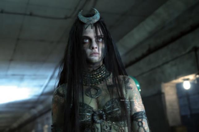 Cara Delevingne in una scena di Suicide Squad