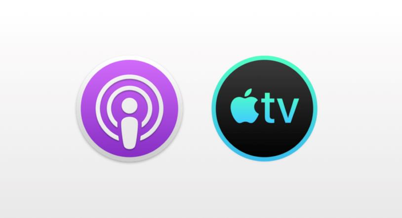 Le nuove icone di Podcast e TV di Apple